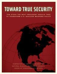 TOWARD TRUE SECURITY - Federation of American Scientists