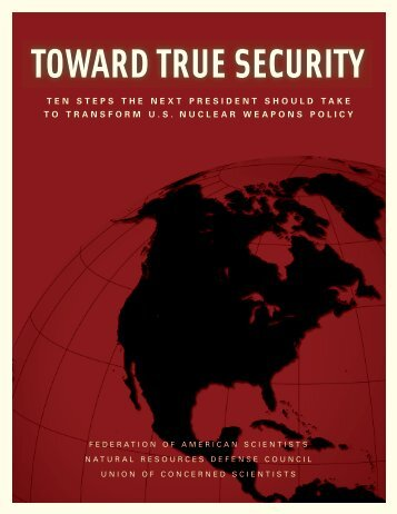 TOWARD TRUE SECURITY - Federation of American Scientists