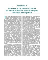 Overview of US Efforts to Control the Spread of Russian Nuclear ...