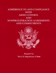 Adherence to and Compliance with Arms Control and ...