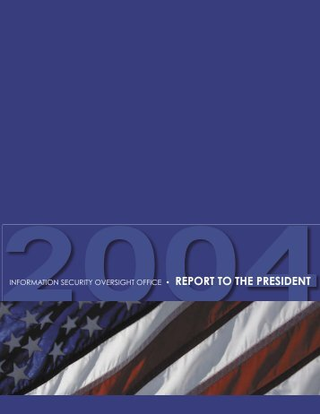 2004 Report to the President - Federation of American Scientists