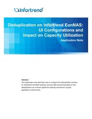 Deduplication on Infortrend EonNAS: UI Configurations and Impact ...