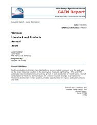 Livestock and Products - Foreign Agricultural Service