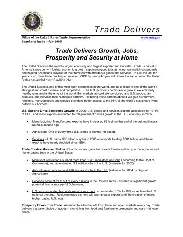 Trade Delivers - Foreign Agricultural Service