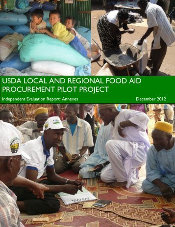 usda local and regional food aid procurement pilot project - Foreign ...