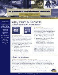 Getting to Know the Plan Website: Advisory ... - FASCore, LLC