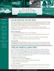 State Of Alaska Deferred Compensation Pre-tax ... - FASCore