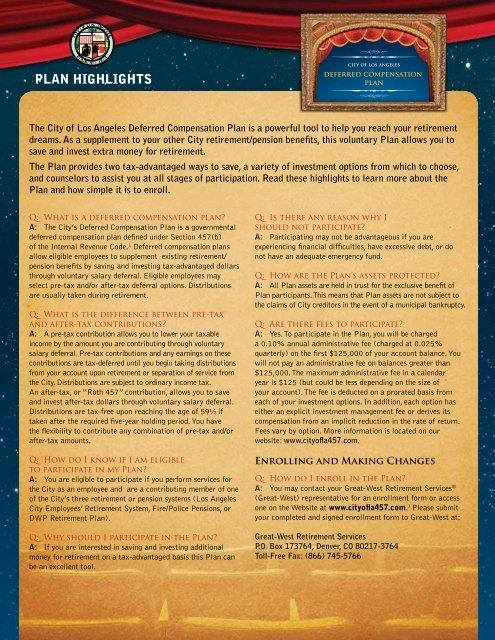 plan highlights - FASCore