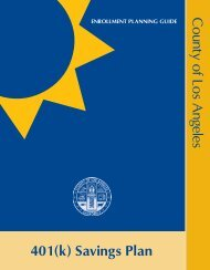 401(k) Savings Plan County of Los Angeles - FASCore