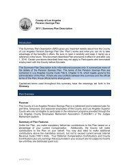 County of Los Angeles Pension Savings Plan 2011 ... - FASCore