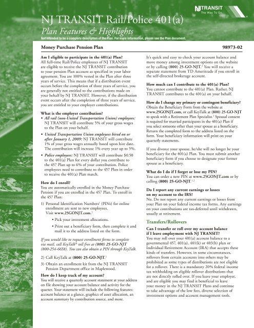 NJ TRANSIT Rail/Police 401(a) - FASCore