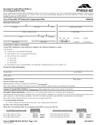 Incoming Transfer/Direct Rollover Governmental 457(b ... - FASCore
