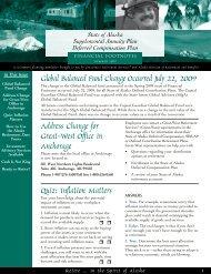 Global Balanced Fund Change Occurred July 22 ... - FASCore, LLC
