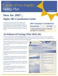 County of Los Angeles Savings Plan - FASCore