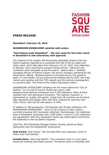 PRESS RELEASE - Fashion Square