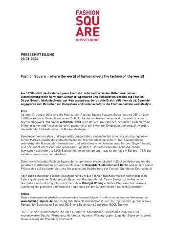 Pressemitteilung ansehen - Fashion Square
