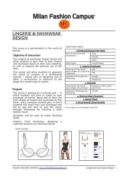 Lingerie Swimwear Design Fashion School