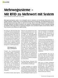 Mehrwegsysteme – Mit RFID zu Mehrwert mit System - fashiongroup ...