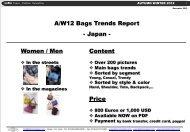 Women / Men A/W12 Bags Trends Report ... - Fashion in Japan
