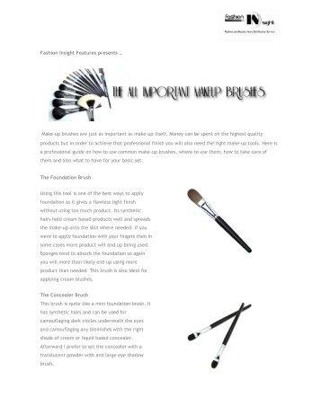 Important Make-up Brushes by Lara Ford.pdf - Fashion Insight