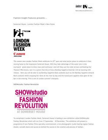 Fashion Insight Features presents …