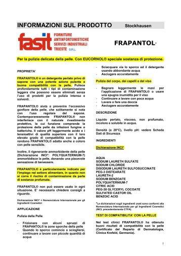 INFORMAZIONI SUL PRODOTTO - Fasit