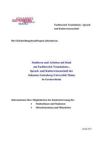 Arche Noah - Fachbereich Translations-, Sprach- und ...