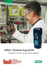 SIRIUS – Rivelatore 4 gas & PID - Fasit