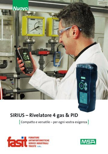 SIRIUS – Rivelatore 4 gas & PID - Fasit