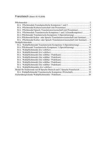Pflichtmodule - Fachbereich Translations-, Sprach- und ...