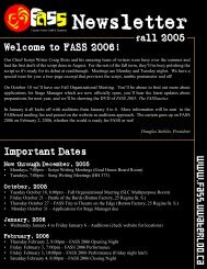 Summer newsletter - FASS Theatre Company