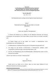 Niedersächsiches Gesetz zum Halten von Hunden NHundG ab 1.7 ...
