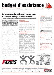 Lire le journal (PDF 1,3 MB) - FAssiS - Fachstelle Assistenz Schweiz