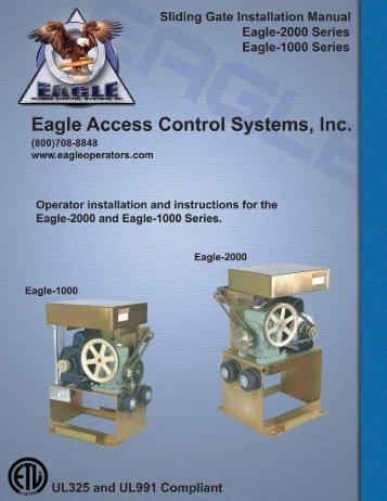 Eagle-1000 Installation Manual - Eagle Access Control Systems, Inc.