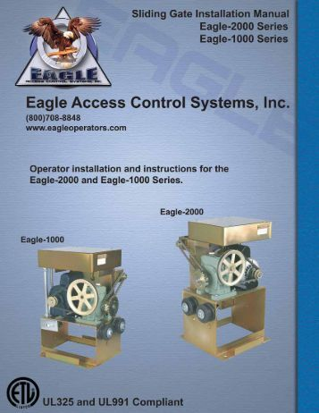 Eagle-1000 Installation Manual - Eagle Access Control Systems, Inc.