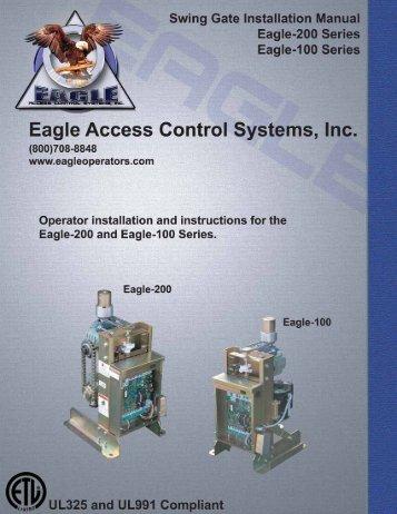 manual - Eagle Access Control Systems, Inc.