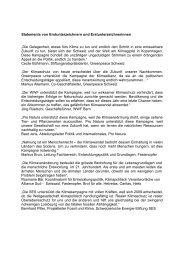 Statements von Erstunterzeichnern und ... - Fastenopfer