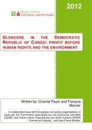 Glencore in the Democratic Republic of Congo - Bread for all