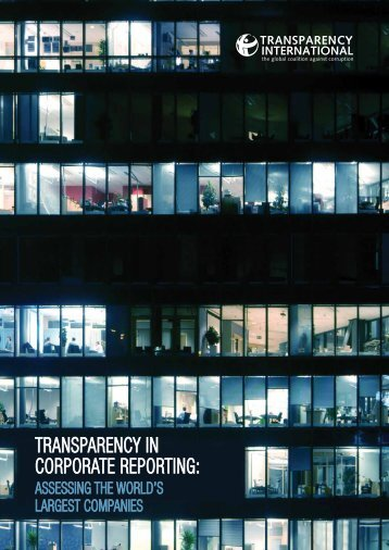 Transparency in Corporate Reporting: Assessing the World's ...