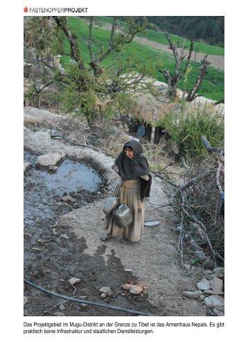 Das Projektgebiet im Mugu-Distrikt an der Grenze zu ... - Fastenopfer