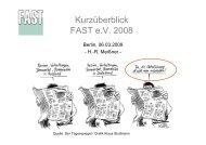 Kurzüberblick FAST e.V. 2008