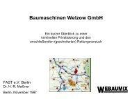Baumaschinen Welzow GmbH