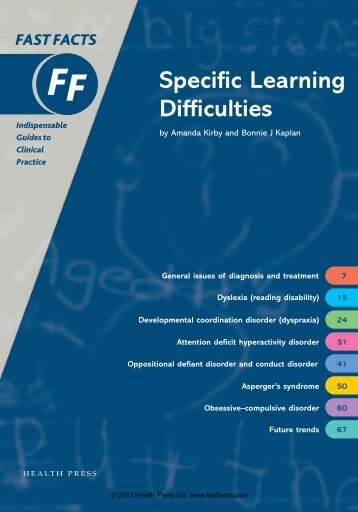 Specific Learning Difficulties - Fast Facts