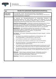 Ausbildung zur Systemische Beratungskompetenz für Coaching und ...