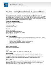 Tourinfo - Rafting Imster Schlucht XL (Zamser Strecke)
