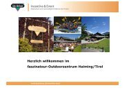 Herzlich willkommen im faszinatour-Outdoorzentrum Haiming/Tirol