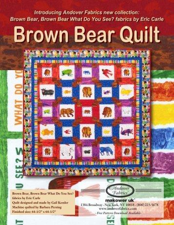 Brown Bear-1 - Andover Fabrics