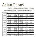Asian Peony quilt pattern - Hoffman California Fabrics - Page 3