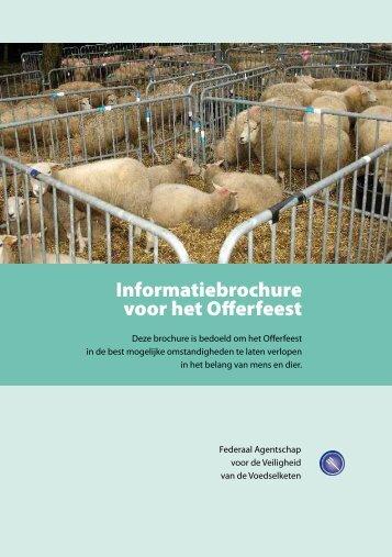 Informatiebrochure voor het Offerfeest - Favv