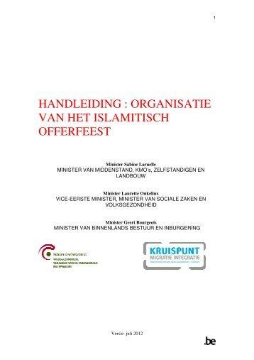 HANDLEIDING : ORGANISATIE VAN HET ISLAMITISCH ... - Favv